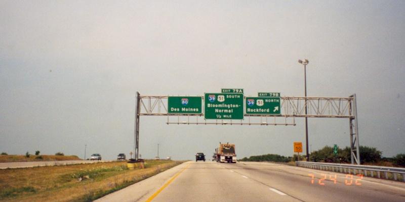Westbound I-80 at I-39  I 39