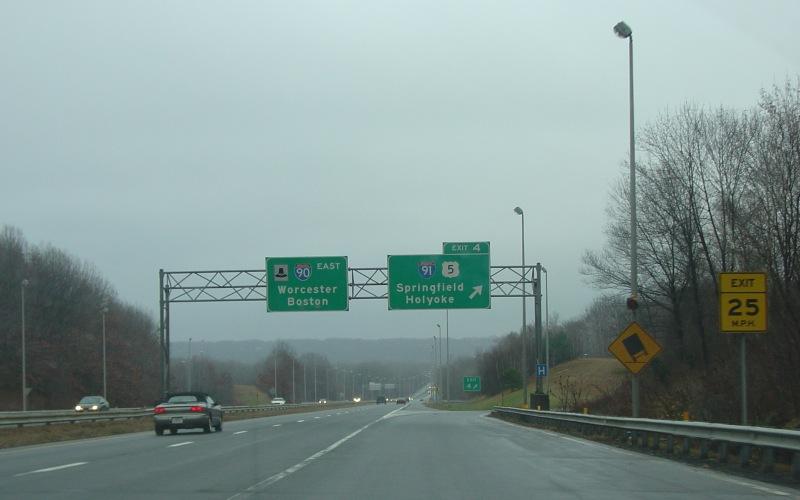 Interstate 90 in Massachusetts