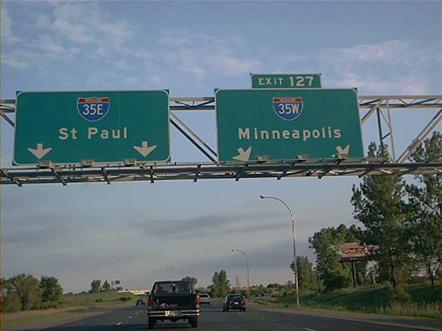 Interstate 35W in Minnesota