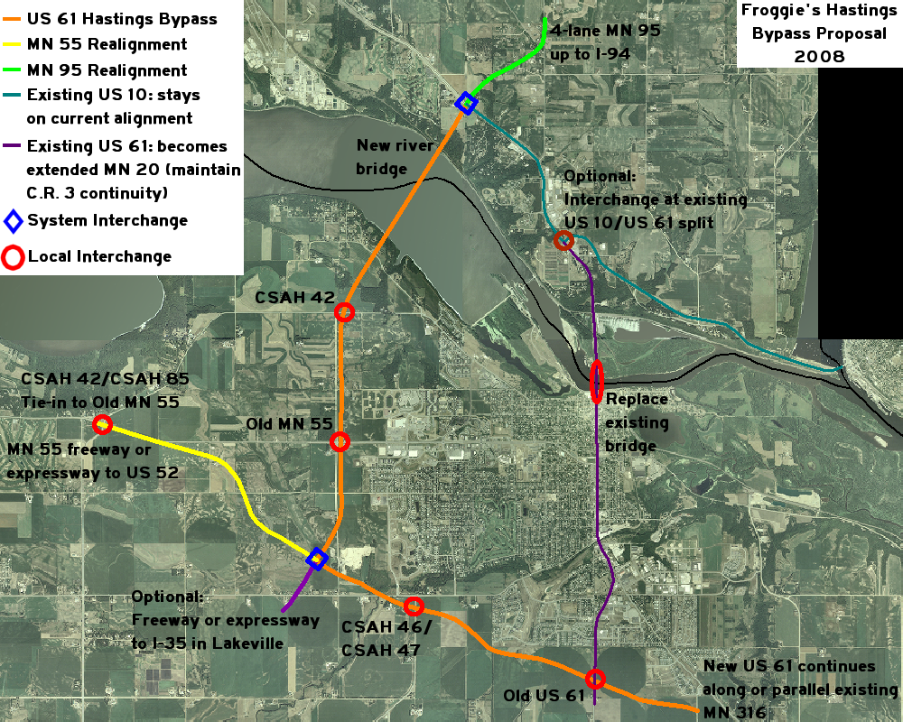 US  Hastings Bypass Idea - Map of us 61