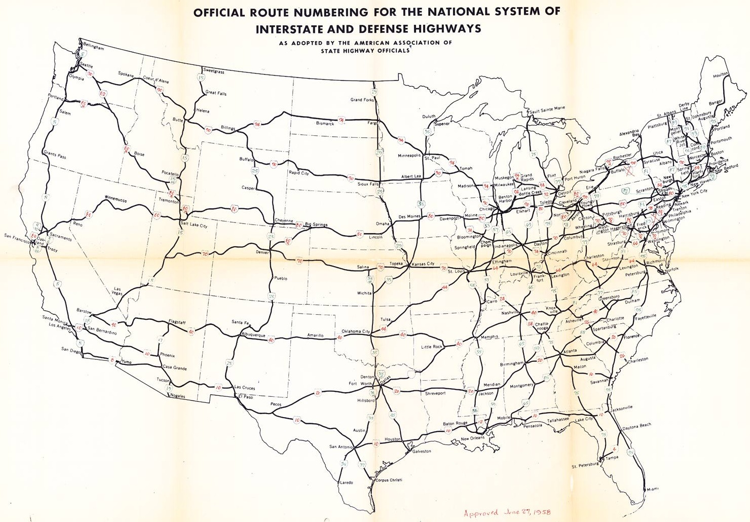 The Yellow Book - Us map with cities and interstates
